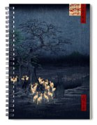 New Years Eve Foxfires At The Changing Tree Spiral Notebook