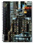 New York At Night - Skyscrapers And Office Windows Spiral Notebook