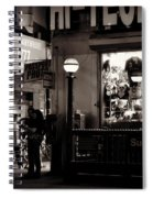 Nighthawks Of New York - Subway Spiral Notebook