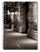 New York At Night - The Phone Call - Theatre District Spiral Notebook