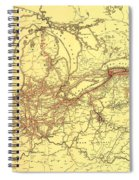 New York Central And Hudson River Railroad 1900 Spiral Notebook