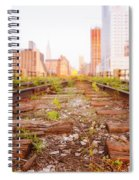 New York City - Abandoned Railroad Tracks Spiral Notebook