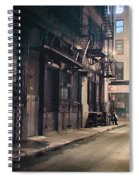 New York City Alley At Night Spiral Notebook