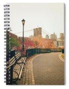 New York City - Autumn - Brooklyn Bridge And Foliage Spiral Notebook