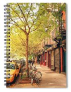 New York City - Autumn In The East Village  Spiral Notebook