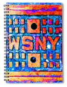 New York City Autumn Street Detail Pop Painting Spiral Notebook