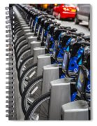 New York City Bikes Spiral Notebook