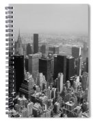 New York City Black And White Spiral Notebook
