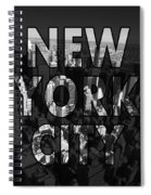 New York City - Black Spiral Notebook