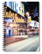 New York City - Broadway Lights And Times Square Spiral Notebook