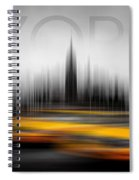 New York City Cabs Abstract Spiral Notebook