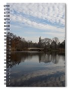 New York City Central Park Bow Bridge Quiet Reflections Spiral Notebook