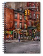 New York - City - Corner Of One Way And This Way Spiral Notebook