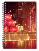 New York City Holiday Decorations Spiral Notebook
