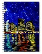 New York City Lower Manhattan Spiral Notebook