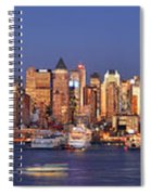 New York City Midtown Manhattan At Dusk Spiral Notebook