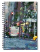 New York City Morning In The Street Spiral Notebook