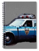 Vintage New York City Police Car 1980s Spiral Notebook