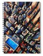 New York City Sky View Spiral Notebook