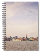 New York City Skyline And The Hudson River Spiral Notebook