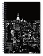 New York City Skyline At Night Spiral Notebook