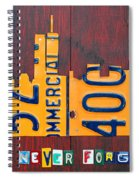New York City Skyline License Plate Art 911 Twin Towers Statue Of Liberty Spiral Notebook