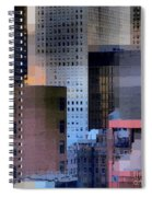 New York City Skyline No. 3 - City Blocks Series Spiral Notebook