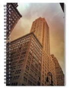 New York City - Skyscraper And Storm Clouds Spiral Notebook