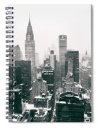 New York City - Snow-covered Skyline Spiral Notebook