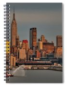 New York City Sundown On The 4th Spiral Notebook