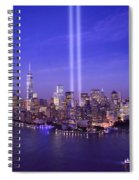 New York City Tribute In Lights World Trade Center Wtc Manhattan Nyc Spiral Notebook