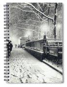New York City - Winter - Snow At Night Spiral Notebook