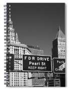 New York City With Traffic Signs Spiral Notebook