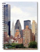 New York From Roosevelt Island Spiral Notebook