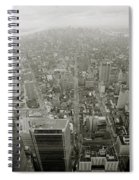 New York From The Trade Towers Spiral Notebook