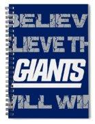 New York Giants I Believe Spiral Notebook