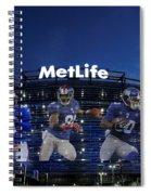New York Giants Metlife Stadium Spiral Notebook