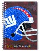 New York Giants Nfl Football Helmet License Plate Art Spiral Notebook