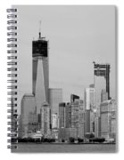 New York Harbor In Black And White Spiral Notebook