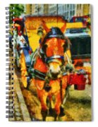 New York Horse And Carriage Spiral Notebook