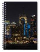 New York In Blue Spiral Notebook