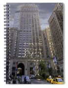 New York In Vertical Panorama Spiral Notebook