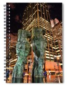 New York - Looking Toward The Avenue Spiral Notebook
