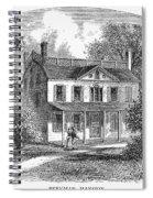 New York: Mansion, 1763 Spiral Notebook