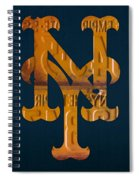 New York Mets Baseball Vintage Logo License Plate Art Spiral Notebook