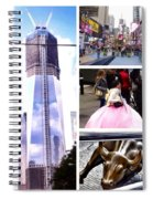 New York Nyc Collage Spiral Notebook