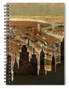 New York Old And New Spiral Notebook