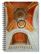New York Public Library Ornate Ceiling Spiral Notebook