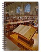 New York Public Library Rose Main Reading Room  Spiral Notebook