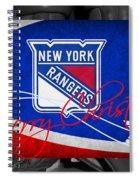 New York Rangers Christmas Spiral Notebook